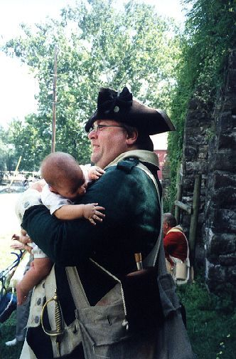 Sergeant Braisted with a young recruit of the 22nd Regiment