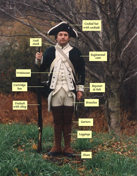 Provincial soldier with uniform accoutrements ca 1777