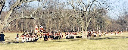 British advance at Princeton